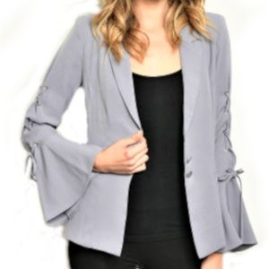 Fate by LFD Blazer Bell Sleeves Size S, M, L Gray